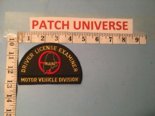 MAINE MOTOR VEHICLE DIVISION DRIVER LICENSE EXAMINER SHOULDER PATCH  F100