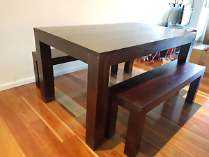 DINING TABLE AND BENCH SEATS Port Macquarie Port Macquarie City Preview