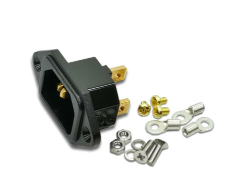 IeGO AC-01 Cu-Au Pure Copper Hi‐End Power Inlet
