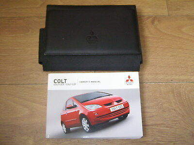 MITSUBISHI COLT 3 DOOR OWNERS MANUAL HANDBOOK PACK 2004 - 2008. FREE UK POSTAGE
