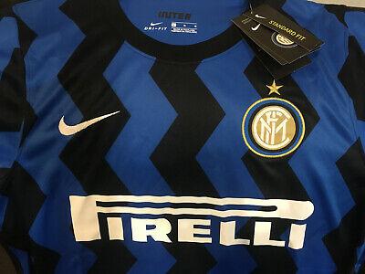 NEW Nike 2020/21 Inter Milan Blue Black Home Soccer Jersey Men Sz Large Firelli image