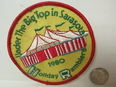 Vtg. 1980 Holiday Ramblers Under the Big Top in Sarasota, FL Souvenir Patch segunda mano  Embacar hacia Mexico