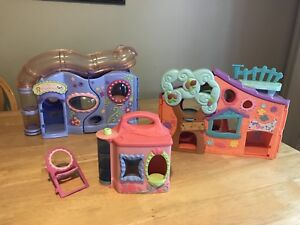 Littlest Pet Shop Treehouse, Pet Store and Lotus Lily