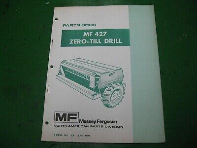 Massey Ferguson Mf427 Mf 427 Zero Till No Till Drill Parts Book Nos