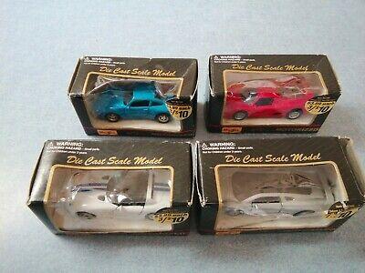 4 Motorized Maisto 4.5 inch cars, VIPER, JAGUAR XJ220, PORSCHE 911, FERRARI F50
