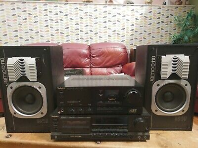 VINTAGE TECHNICS  HIFI SEPARATES, with JAMO speakers. WITH INSTRUCTIONS.
