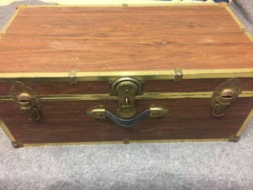 Vintage Coffee Table Antique Storage Trunk Chest Wooden Organizer Box