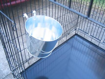 NEW HOOK ON METAL FEED BUCKETS - 2 SIZES FROM $3.50