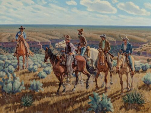 American West/Cowboy Theme NEW Metal Sign: Palo Duro Canyon - Joining the Posse