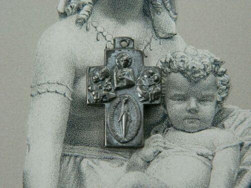 Religious Vintage Catholic Saints Cross Pendant