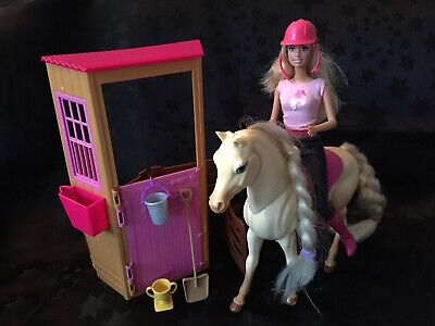Barbie Doll, Horse & Stable Playset