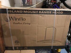 30 inch. 450 CFM  convertible Island Range Hood by Winflo