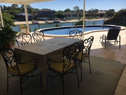 Room available in luxury waterfront home with pool