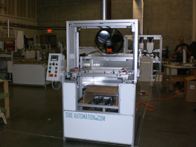 """SIBE AUTOMATION VACUUM FORMING MACHINE 24"""" X 24"""" PLUG ASSIST TOP&BOTTOM HEATERS"""