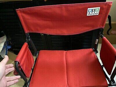 RIO Gear Bleacher Boss Folding Stadium Seat - Red