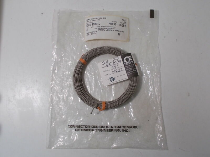 New Omega GG-K-30-SLE-IB-50 Thermocouple Wire:  50