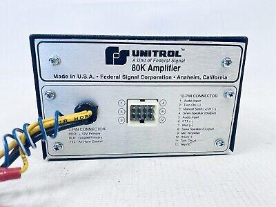 Federal Signal Unitrol 80k Amplifier