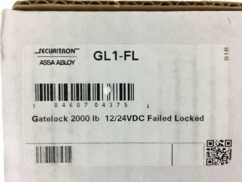 GL1-FL Gatelock 2000 lbs 12/24 VDC Failed Locked Gate Lock Surface Mount Securit