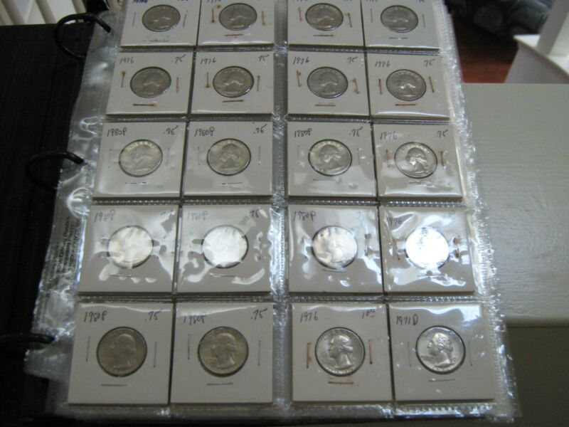 Washington Quarters , 1972 - 2007 , MIxed Lot , 175 Coins , AU / Un Circ.