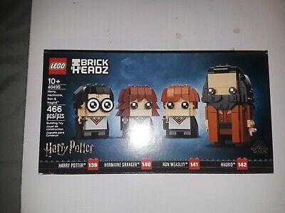 LEGO 40495 BrickHeadz Harry Hermione Ron & Hagrid (466 pcs) Brand New! Sealed!