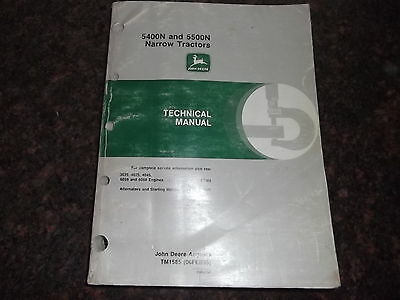 John Deere 5400n 5500n Tractor Technical Service Shop Repair Manual Tm1585