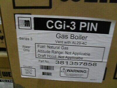 Weil-mclain 38135858 Cgi-3-pin Ng Boiler With Taco Circ 60 Mbh