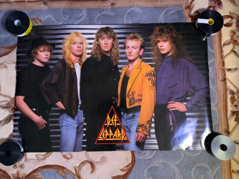 Def Leppard Band Poster 1980s