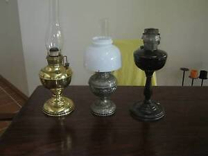 Antique oil lamps Mahogany Creek Mundaring Area Preview