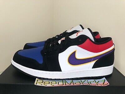 Nike Air Jordan 1 Retro Low Rivals Top 3 Black Purple Lakers Mens CJ9216 051