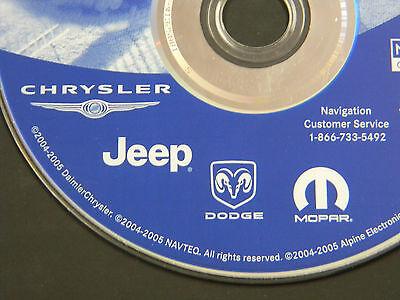 CHRYSLER JEEP DODGE MOPAR NAVIGATION NAV DVD OEM 05064033AE