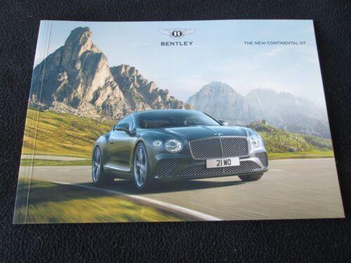 2018 Bentley New Continental GT Brochure W12 6.0 liter Cont GT Sales Catalogue