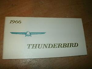 thunderbird owners manual ebay