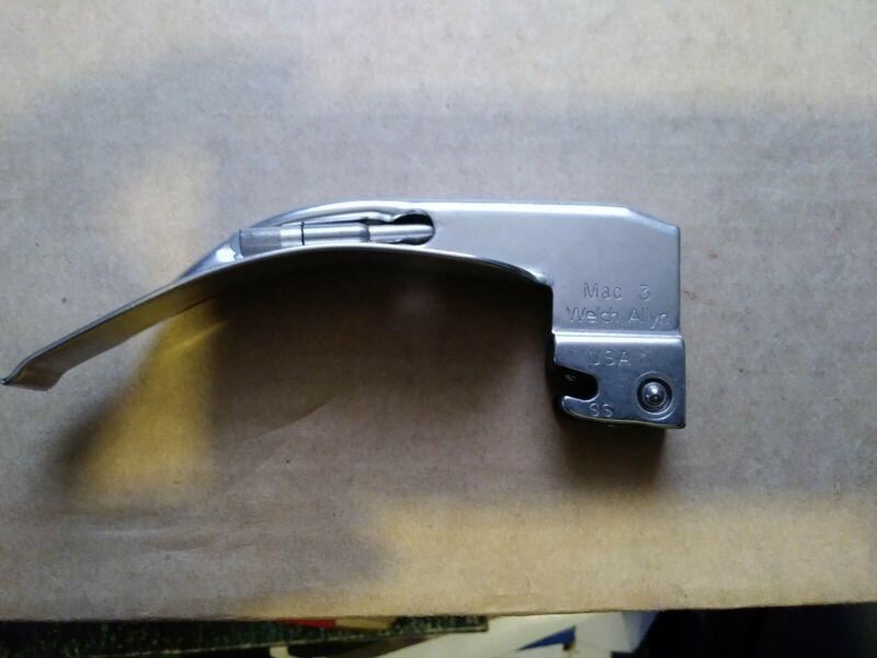 Laryngoscope Blade SS Fiber Optic Mac 3 Welch Allyn