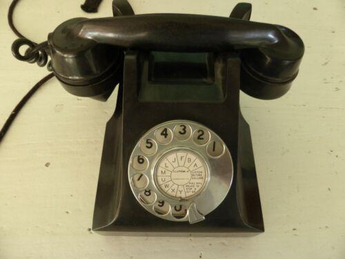 Vintage Bakelite Telephone - fully working - vintage black phone - antique phone