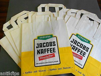 Jacobs Kaffee Krönung 10 alte Einkaufstaschen aus Papier 70er Jahre
