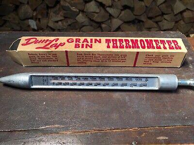 Vintage Cargill Hybrids Grain Bin And Soil Thermometer Dun-Lap NOS