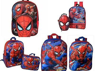 Marvel Spiderman Boys Backpack Bookbag Lunch Box School Kids Toy Gift Superhero