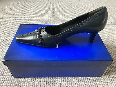 KENNEL & SCHMENGER Ladies Navy Blue Patent Leather Court Shoes UK5.5 NEW