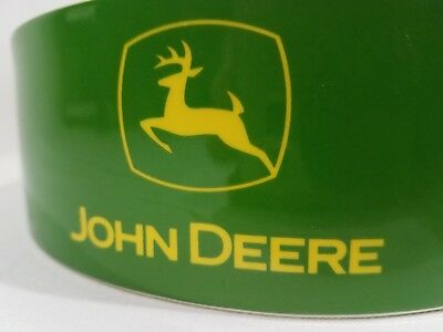 SET OF TWO Ceramic Collectible JOHN DEERE Dog Food Bowls   Size: Large