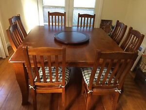 8 seater dining setting with matching buffet Heathmont Maroondah Area Preview