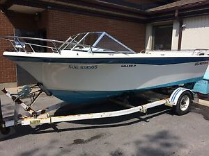 Wilker 17 Galaxie runabout fishing boat