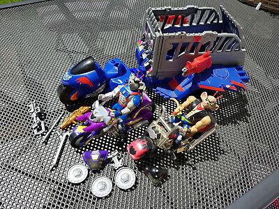 Biker Mice Spielfiguren und Motorräder aus den 90ern Set (Spielset Action-figuren)
