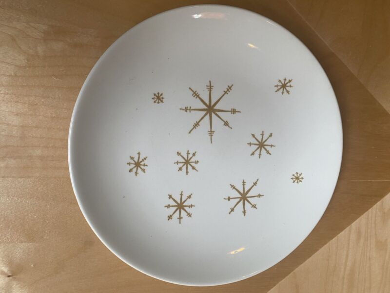 """3 Vintage Star Glow 10"""" Royal China Ironstone Dinner Plates Excellent Condition!"""