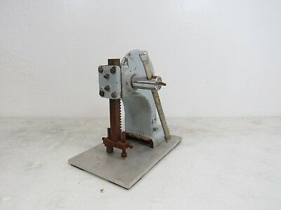 Heavy Duty No. 0 Blue Arbor Press W Handle And Extended Base Plate Japan Ec3