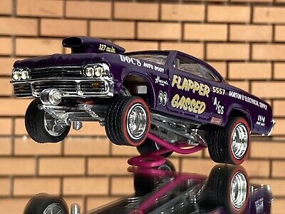 """Hot Wheels 65 Chevy Impala """"Flabber Gassed""""CUSTOM GASSER-RR-EXTREME DETAIL"""