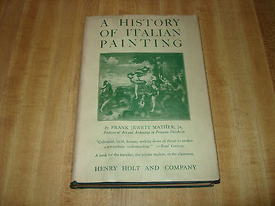 Awesome 1938 Vintage book - A History of Italian Painting by Frank J. Mather Jr.