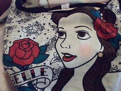 Beauty And The Beast Rose Tattoo (Nwt Beauty And The Beast Belle Crossbody Disney Roses Tattoo Hobo Tote Bag)