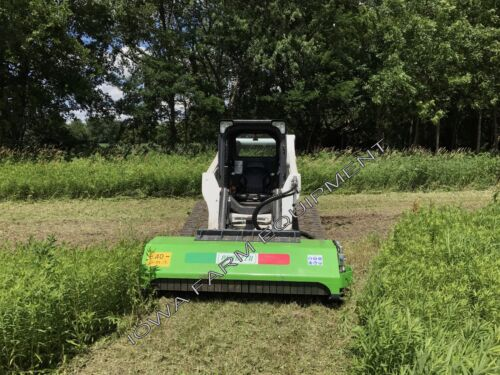 """SkidSteer Flail Mower: Peruzzo SS190,75"""" DIRECT DRIVE Cut4""""Dia,40GPM,Offsetable!"""