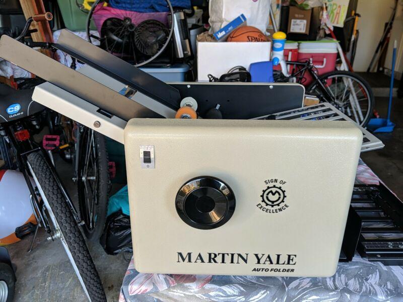 Martin Yale Auto Folder Paper Folder CV-7 115 Volt 60 Hz Mint