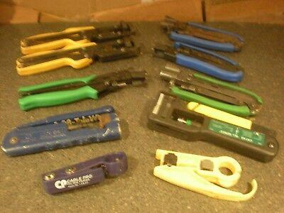 10 Coaxial Cable Crimper Compression Tools More Lot 8